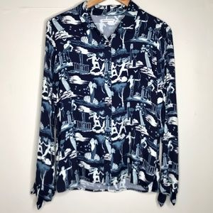 NWT Reformation Delphi Printed Corinne Top